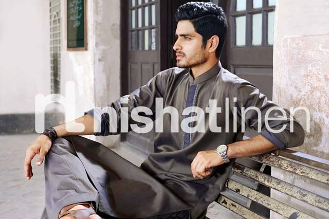 Naqsh by Nishat Linen Men Wear Kurta Collection 2013 001