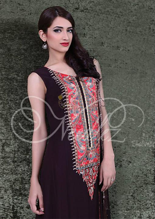 Needlez By Shalimar Stylish Formal Wear Winter Dress Collection 2013-2014 For Women (1)