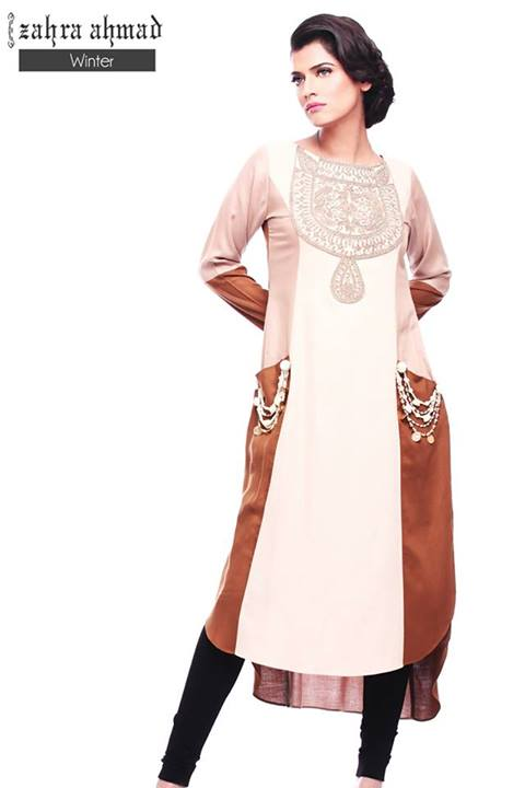 New Beautifull Zahra Ahmad Formal Wear Winter Collection 2013 For Women 5