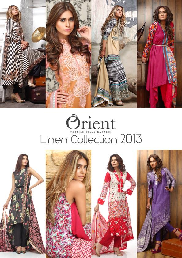 Orient Textile Embroidered & Printed Linen Winter Collection 2013 3