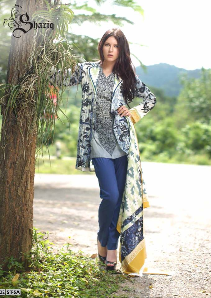 Shariq Textile Dresses Latest Collection 2014 001