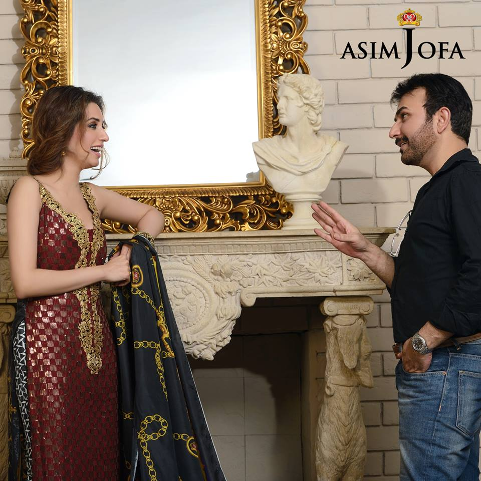 Asim Jofa Raw Silk Charmeuse Collection 2013-2014 for Women 1