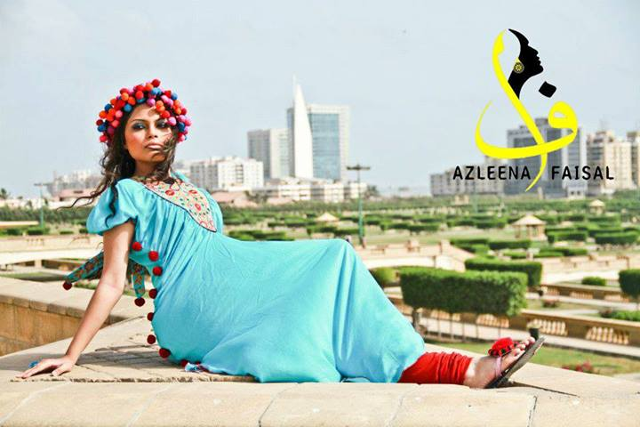 Azleena Faisal Latest Winter Dress Collection 2014 For Women (1)