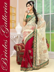Brides Galleria Latest Stylish Party Wear Indian Sarees 2014 003