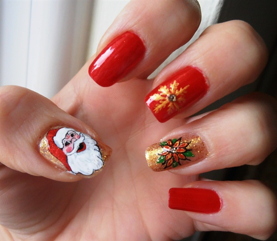 Christmas Nail Art Designs Collectin 2013-14 For Girls 2