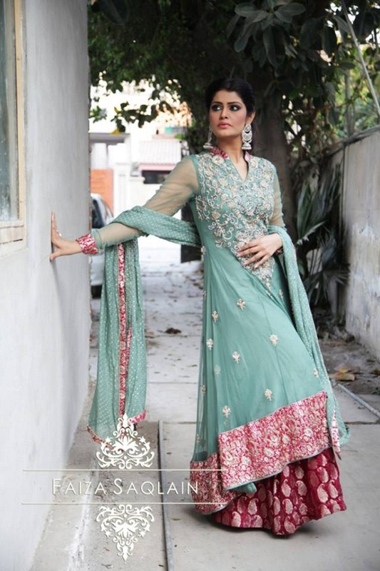 Faiza Saqlain Formal Wear Outfits Collection 2014 For Women (1)