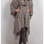 Grapes Woolen Poncho Stone Work Winter Collection 2014 001
