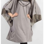 Grapes Woolen Poncho Stone Work Winter Collection 2014 004