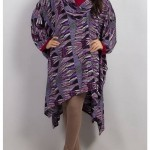 Grapes Woolen Poncho Stone Work Winter Collection 2014 005