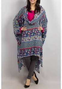 Grapes Woolen Poncho Stone Work Winter Collection 2014 007