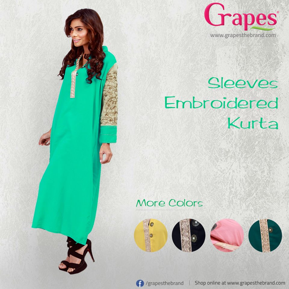 Grapes coat collar kurta Latest Dress Collection 2014 For Women (2)