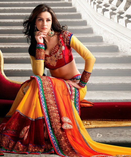 Indian Designer Tissue Sarees Collection 2013 for Women