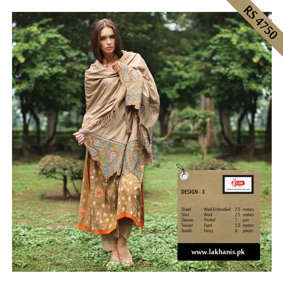 Lakhany Silk Mill Merino Shawl Winter Collection 2013-14 by LSM 2