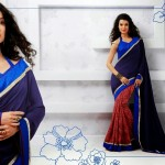 Latest Indian Silk Saree Collection with Blouses 2014 For Women (2)