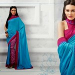 Latest Indian Silk Saree Collection with Blouses 2014 For Women (3)