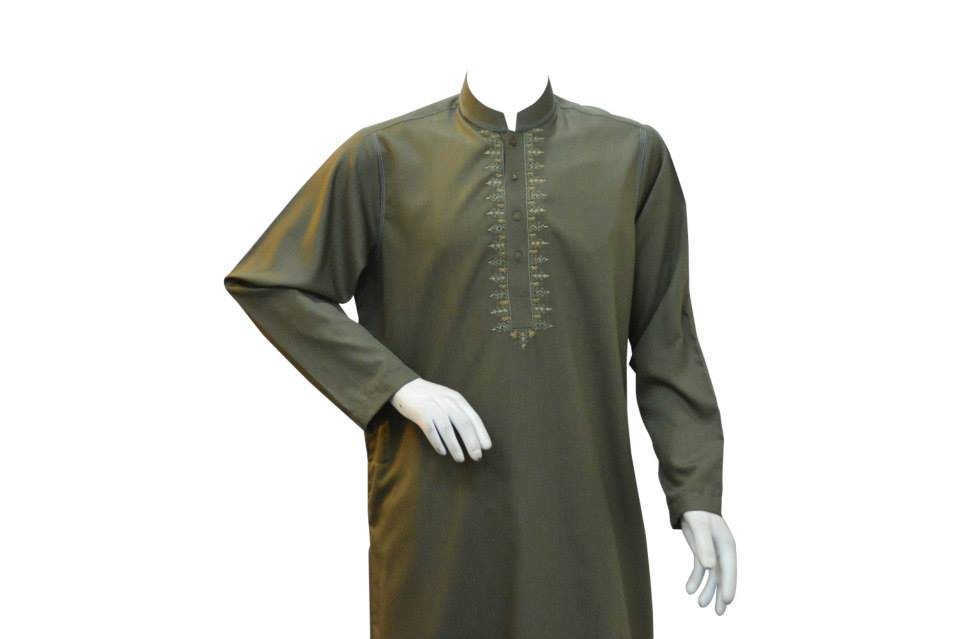 Latest Kurta Corner Winter Wear Dress collection 2014 For man (1)