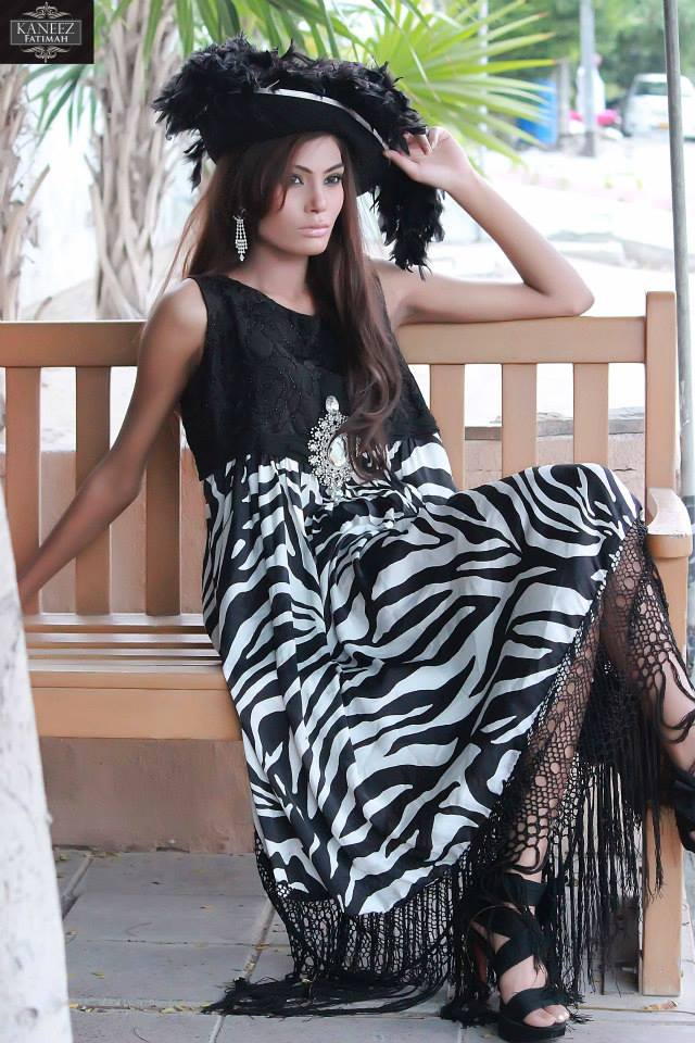 Latest Party wear Winter Dress collection 2014 For Women By Kaneez Fatima (5)
