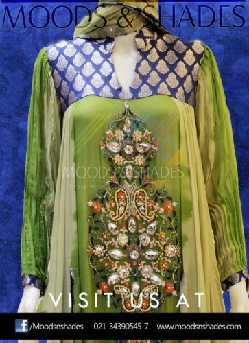 Moods And Shade Exclusive Party Wear Dress Collection 2014-15 (4)