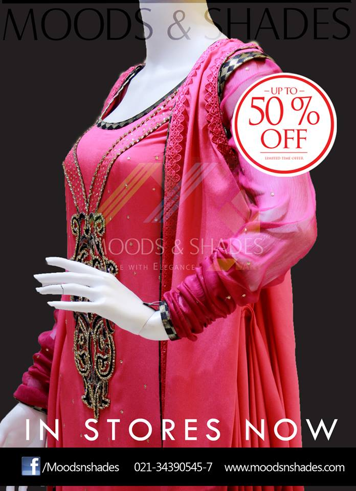 Moods & Shades Latest party wear 2014 dress collection for women (6)
