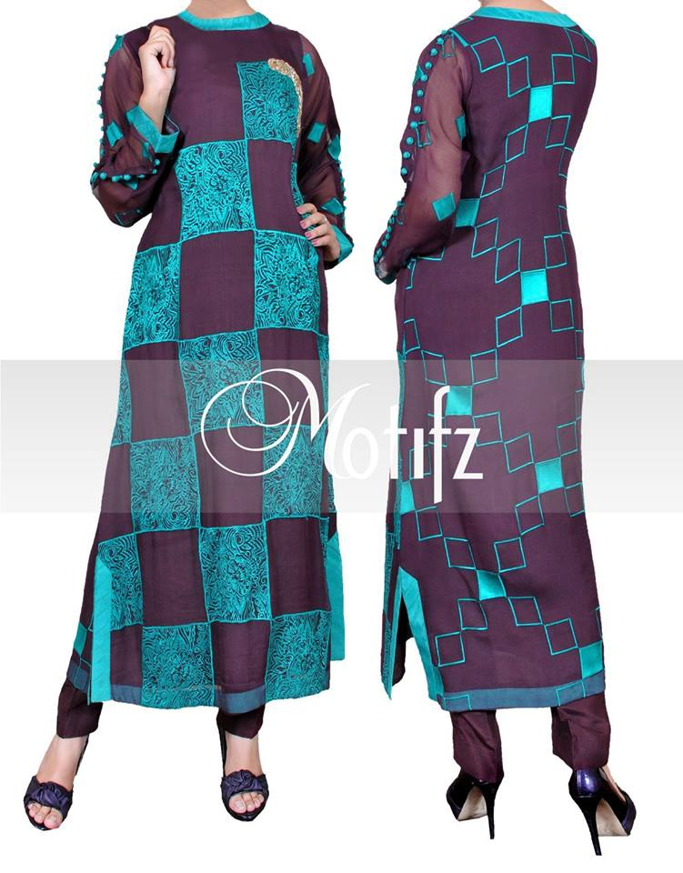 Motifz Stylish Winter Arrivals Dress Collection 2014 For Girls (4)