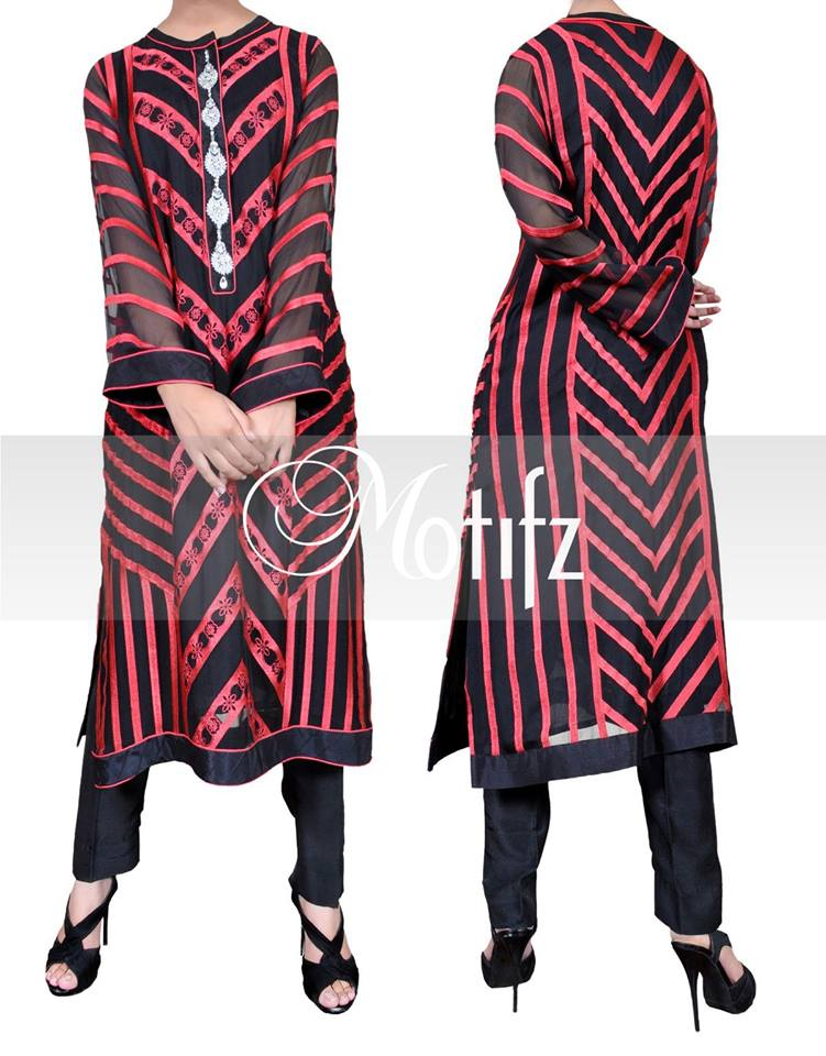 Motifz Winter Latest Dresses Collection 2014 008