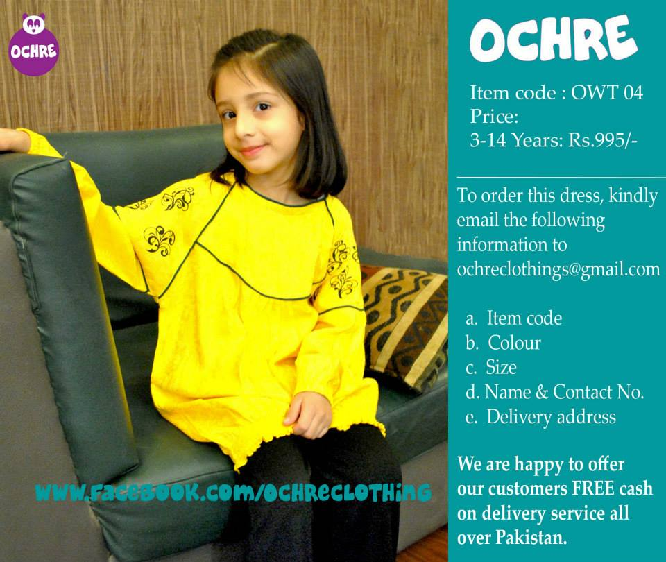 Ochre Kids Winter Dresses 2014 001