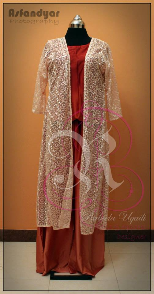 Rabeela Uqaili Net Coat Party Wear Dress collection For Women (8)