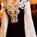 Rujhan Fabric Stylish Winter Dresses Collection For Girls 2