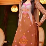 Rujhan Fabric Stylish Winter Dresses Collection For Girls 3