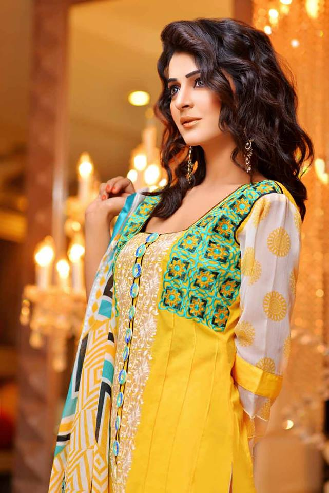 Stylish Winter Wear Party Dress Collection For Women By Rujhan Fabric (11)