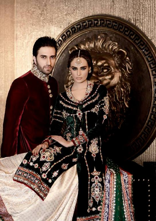Wajahat Mansoor Bridal and Groom Collection 2014 for Men & Women 1