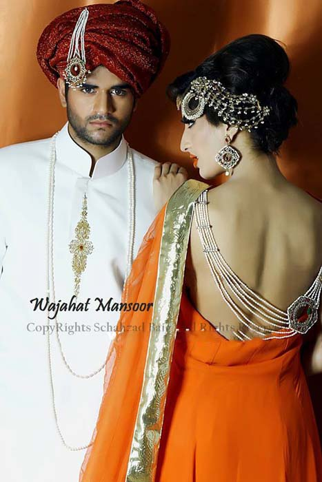 Wajahat Mansoor Bridal and Groom Collection 2014 for Men & Women 2