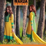 Warda Latest Embroidered Shirts Collection 2014-2015 For Women (3)
