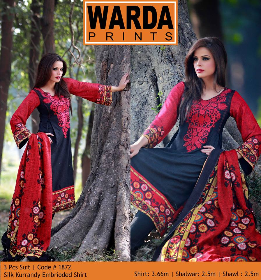 Warda Latest Embroidered Shirts Collection 2014-2015 For Women (5)
