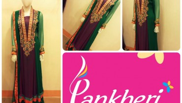 Winter Party Wear Dresses Collection 2014 For Ladies By Pankheri 001