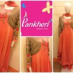 Winter Party Wear Dresses Collection 2014 For Ladies By Pankheri 002