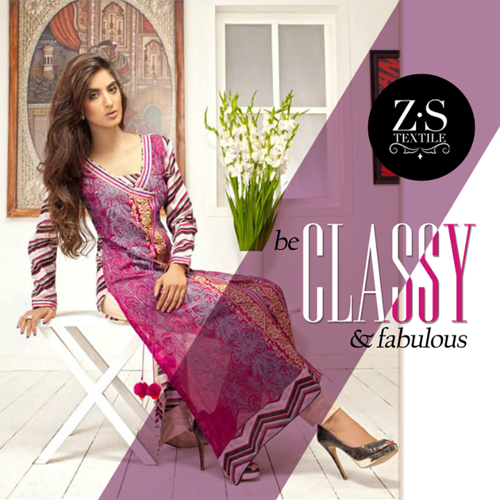 ZS Textiles Party Winter Dresses Collection 2014 001