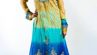 Zunaira's Lounge Party Wear Winter Dresses Collection 2013 001
