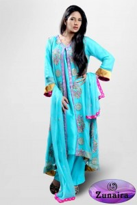 Zunaira's Lounge Party Wear Winter Dresses Collection 2013 002