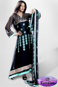 Zunaira's Lounge Party Wear Winter Dresses Collection 2013 003