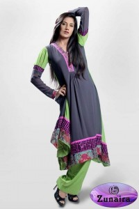 Zunaira's Lounge Party Wear Winter Dresses Collection 2013 005