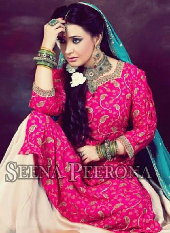 Asma Omar Latest Bridal Dress Collection 2014 of Seena Peerona (1)