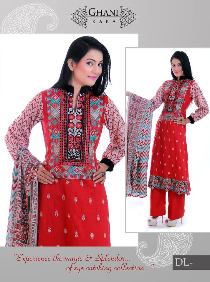 Ghani Textile Winter Collection 2014 for Women