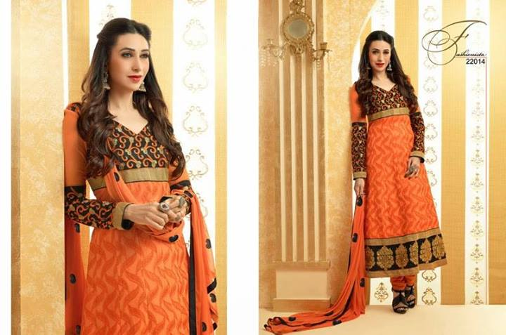 Karishma Kapoor Indian Designer Anarkali Dresses for Spring 2014 001