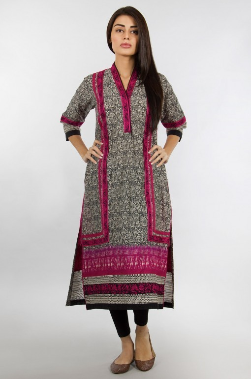 Khaadi Exclusive Pret Wear Winter Dresses Collection 2014 For Women (1)