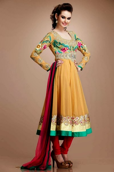 Latest Beautiful Anarkali Suits Collection 2014-2015 For ...