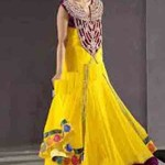 Latest Bridal Mahndi Dress Collections 2014 003