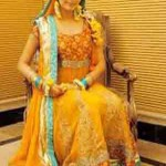 Latest Bridal Mahndi Dress Collections 2014 004