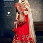 Latest Bridal Wear Wedding Dress Collection 2014 by Nihaal (2)