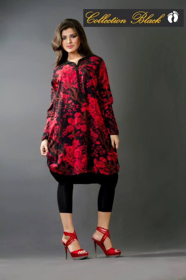 Latest Collection Black Western Wear Dresses 2014 for Women by Hang Ten (2)